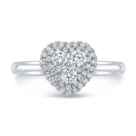 Кольцо с бриллиантами в форме сердца,  Больше Изображение 2