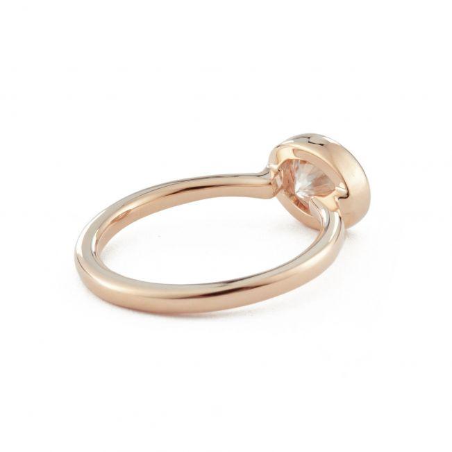 Кольцо с горизонтальным овальным бриллиантом - Фото 1