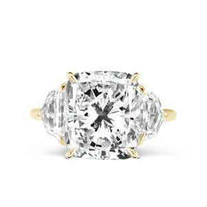 Кольцо с кушоном и боковыми бриллиантами