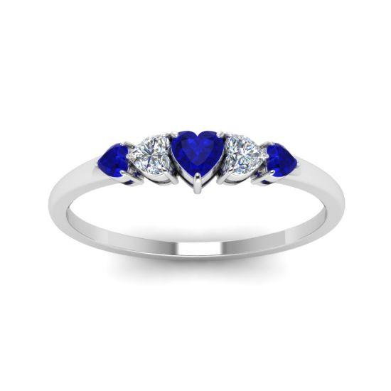 Кольцо с бриллиантами и сапфирами,  Больше Изображение 2