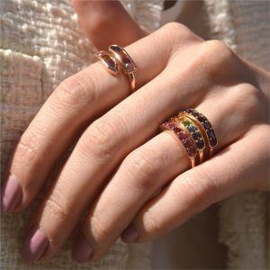 Кольцо с розовой шпинелью