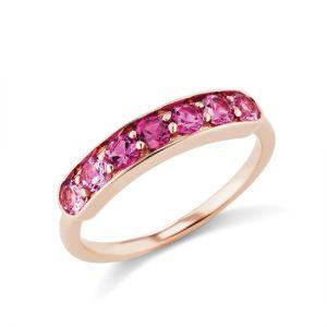 Кольцо дорожка с розовой шпинелью