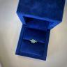 Стильное кольцо с изумрудом из желтого золота, Изображение 4