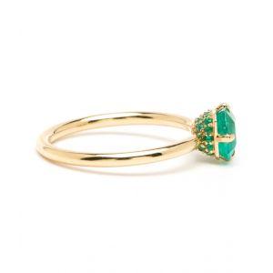 Кольцо с изумрудом из желтого золота