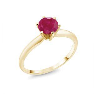 Кольцо с рубином солитер