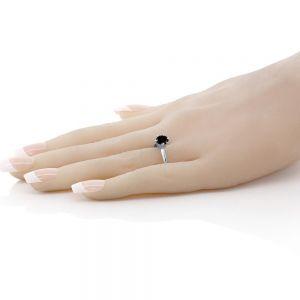 Кольцо с черным бриллиантом 1 карат - Фото 2