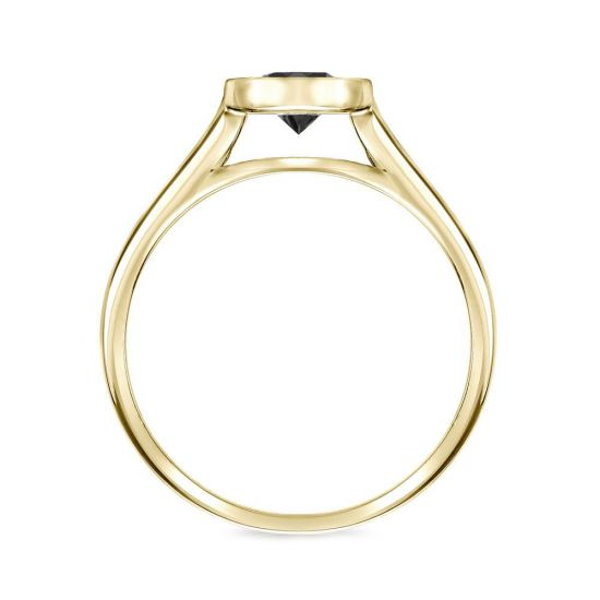 Кольцо с черным бриллиантом 1.00 карат,  Больше Изображение 2