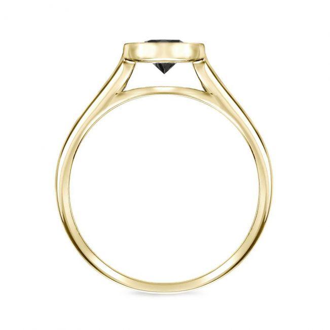 Кольцо с черным бриллиантом 1.00 карат