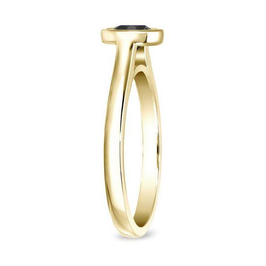 Кольцо с черным бриллиантом 1.00 карат,  Больше Изображение 3
