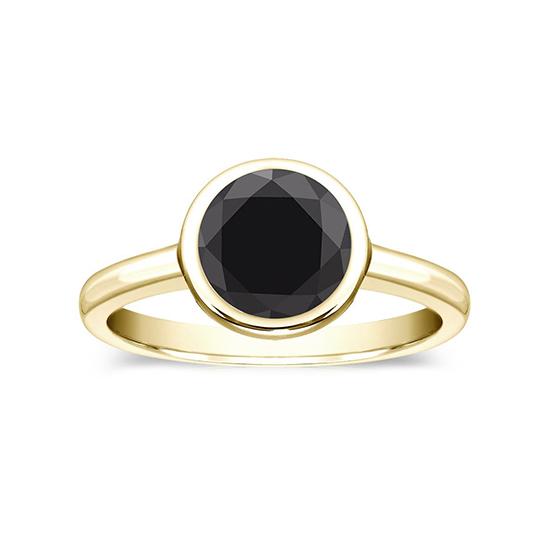 Кольцо с черным бриллиантом 1.00 карат, Больше Изображение 1