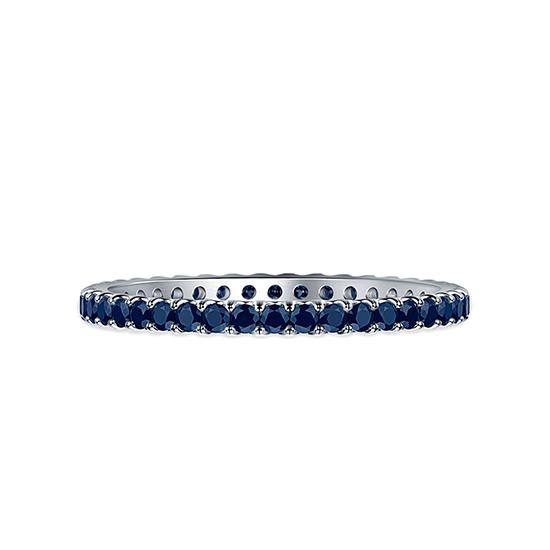Тонкое кольцо дорожка с сапфирами, Больше Изображение 1