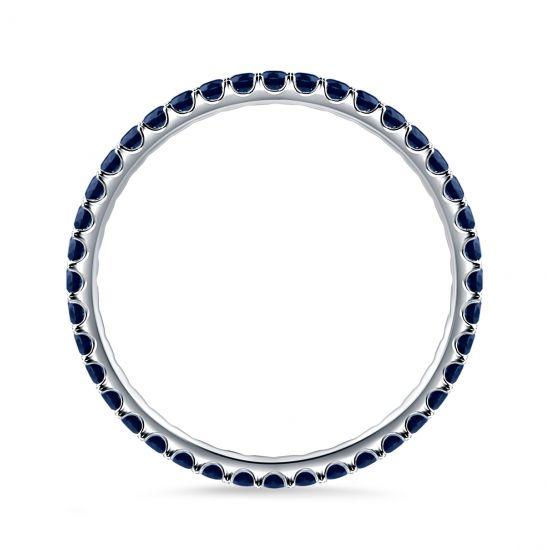 Тонкое кольцо дорожка с сапфирами,  Больше Изображение 4