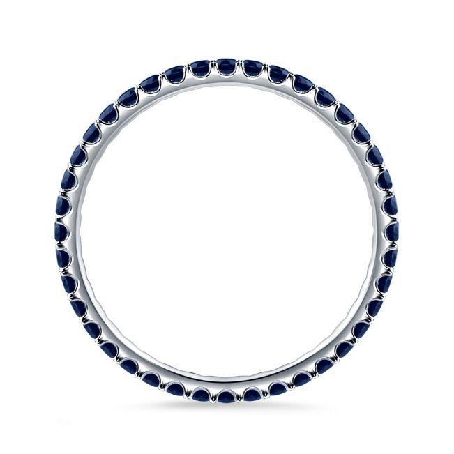 Тонкое кольцо дорожка с сапфирами