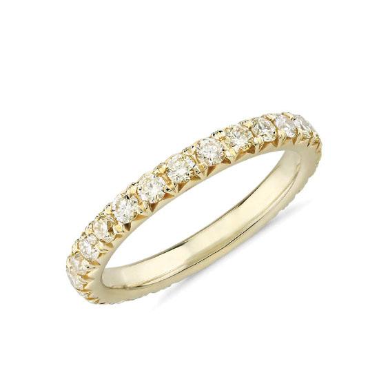 Кольцо дорожка с бледно-желтыми бриллиантами, Больше Изображение 1