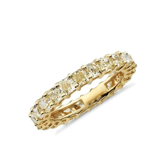 Кольцо дорожка с желтыми бриллиантами, Больше Изображение 1