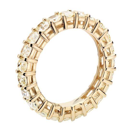 Кольцо дорожка с желтыми бриллиантами,  Больше Изображение 2