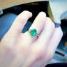 Кольцо с овальным изумрудом и бриллиантами груша по бокам, Изображение 4