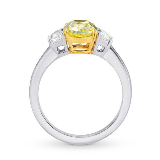 Кольцо с желтым и белыми бриллиантами,  Больше Изображение 2