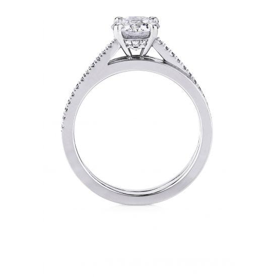 Кольцо с бриллиантом 0.5 карата,  Больше Изображение 2