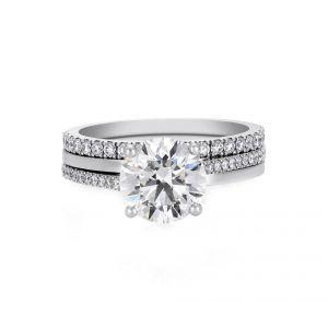 Кольцо с бриллиантом 0.5 карата