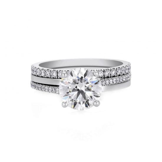 Кольцо с бриллиантом 0.5 карата,  Больше Изображение 4