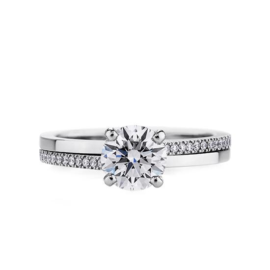 Кольцо с бриллиантом 0.5 карата, Больше Изображение 1