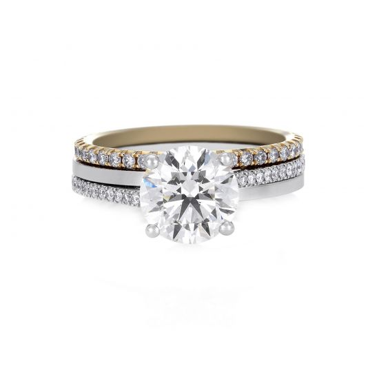 Кольцо с бриллиантом 0.5 карата,  Больше Изображение 5