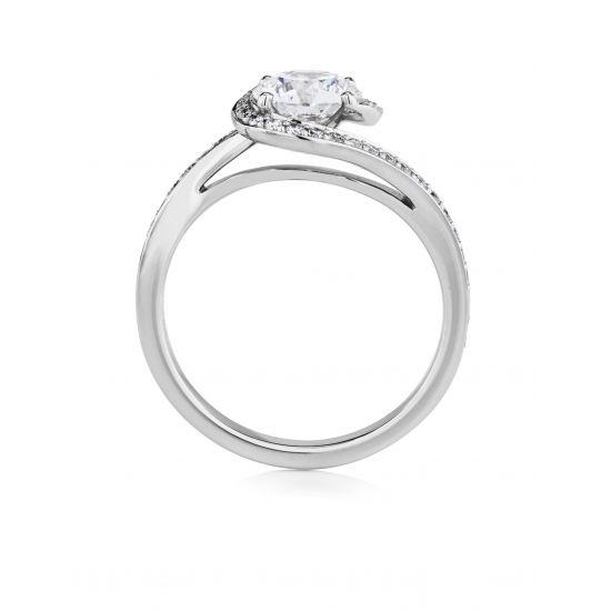 Кольцо с бриллиантом 0.50 кт,  Больше Изображение 2