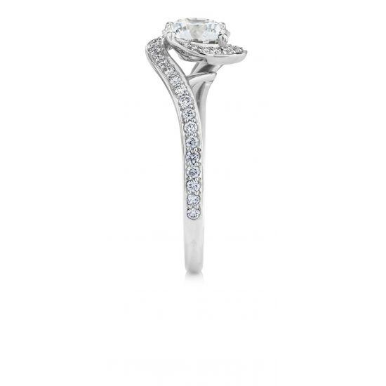 Кольцо с бриллиантом 0.50 кт,  Больше Изображение 3