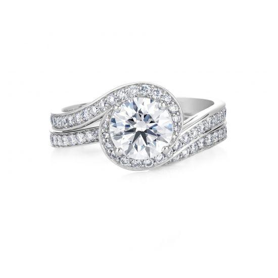 Кольцо с бриллиантом 0.50 кт,  Больше Изображение 4