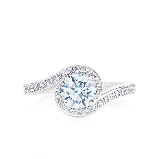 Кольцо с бриллиантом 0.50 кт, Больше Изображение 1