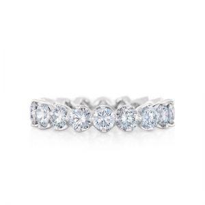 Кольцо дорожка из круглых бриллиантов