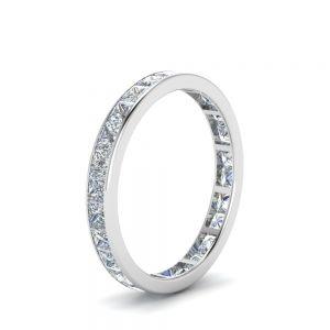 Кольцо дорожка из бриллиантов принцесса 2 карата