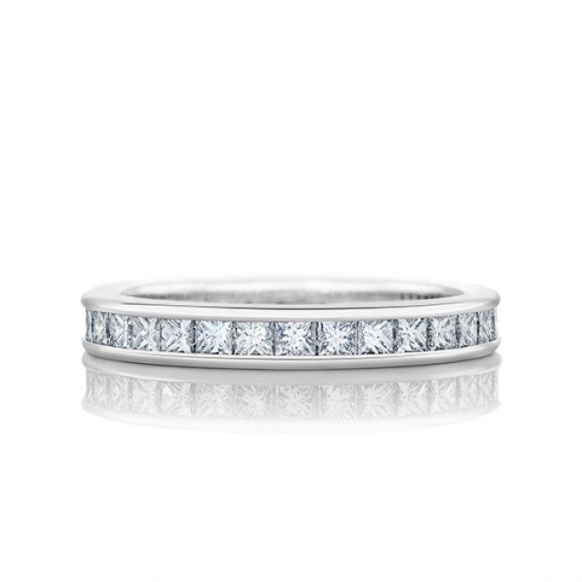 Кольцо дорожка из бриллиантов принцесса 2 кт
