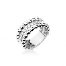 Кольцо тройная дорожка в бриллиантах