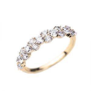 Оригинальное кольцо дорожка с бриллиантами