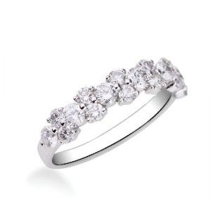 Оригинальное кольцо бриллиантовая дорожка