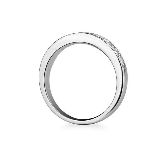 Кольцо дорожка с 10 квадратными бриллиантами 1.60 карата,  Больше Изображение 2