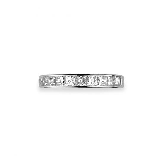 Кольцо дорожка с 10 квадратными бриллиантами 1.60 карата,  Больше Изображение 3