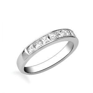 Кольцо дорожка с 10 квадратными бриллиантами 1.60 карата