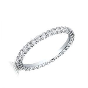 Кольцо дорожка с маленькими бриллиантами