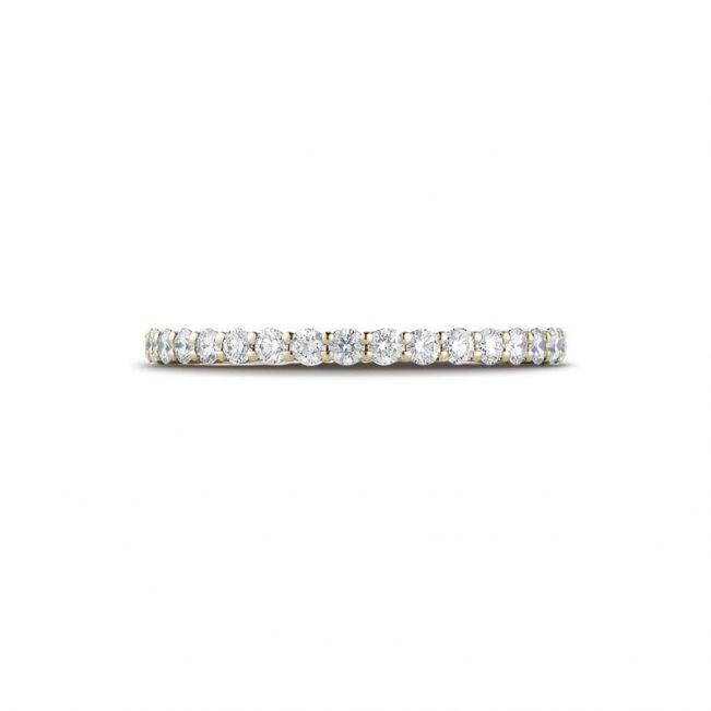 Кольцо дорожка с круглыми бриллиантами - Фото 1
