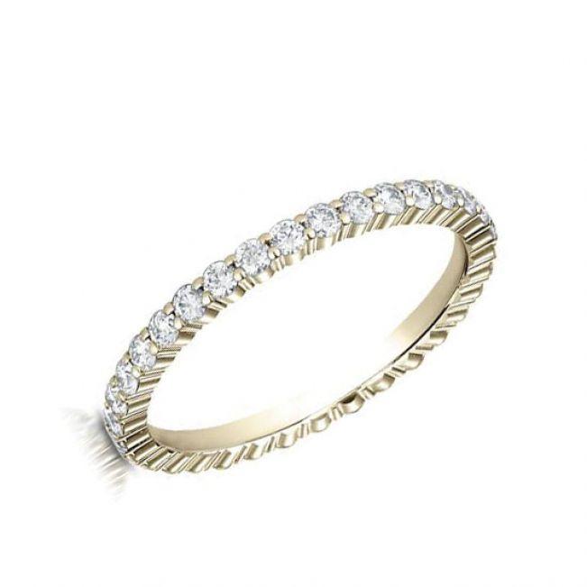 Кольцо дорожка с круглыми бриллиантами