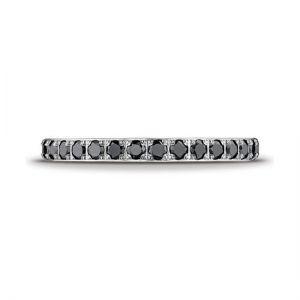 Кольцо дорожка с маленькими черными бриллиантами