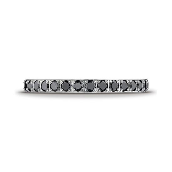 Кольцо дорожка с маленькими черными бриллиантами,  Больше Изображение 2