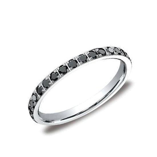 Кольцо дорожка с маленькими черными бриллиантами, Больше Изображение 1