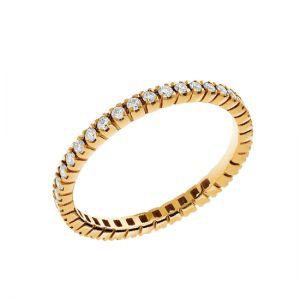 Тонкое кольцо дорожка с бриллиантами