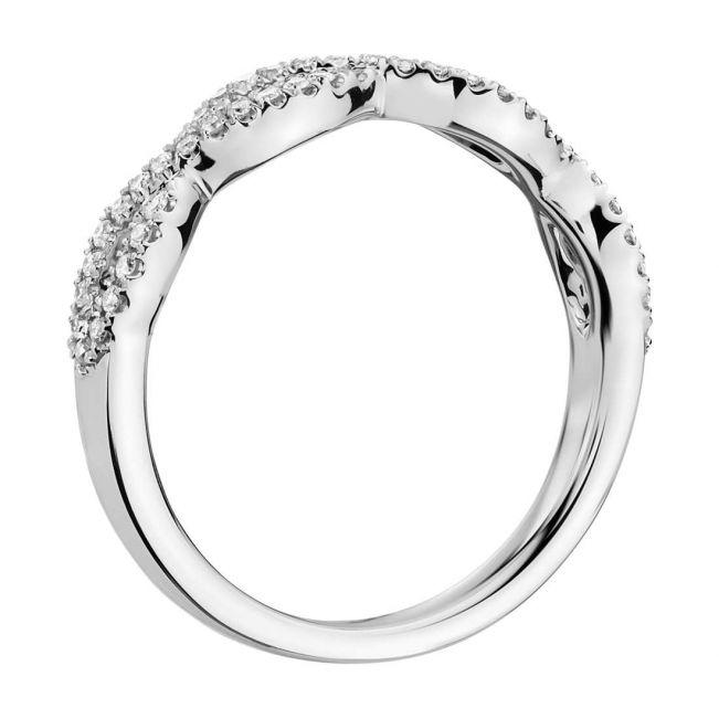 Кольцо с двойной дорожкой переплетение бесконечностей - Фото 1