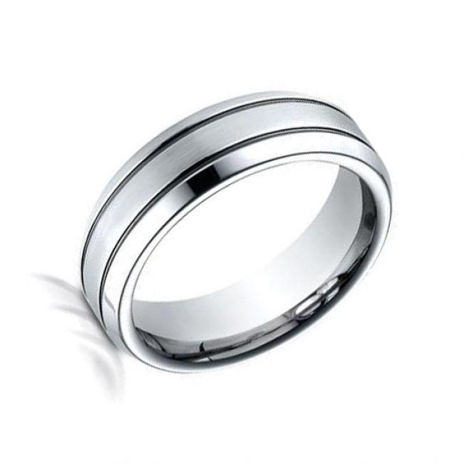 Мужское кольцо без драгоценных вставок