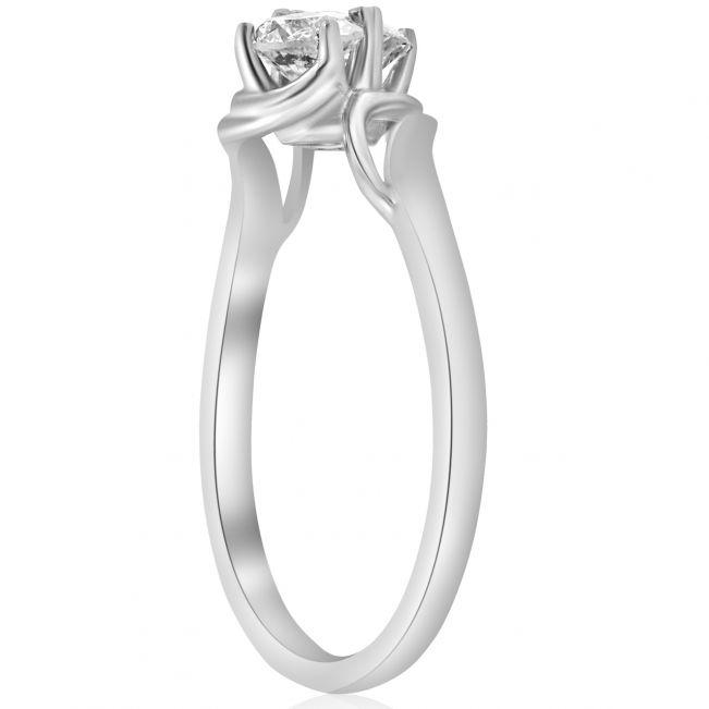 Кольцо с двумя небольшими бриллиантами - Фото 1